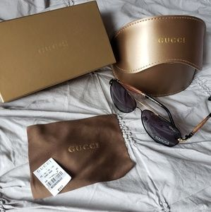 Gucci Accessories - GUCCI NWB 😎AUTHENTIC UNISEX BAMBOO AVIATOR